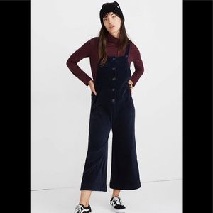 Madewell texture & thread navy corduroy overalls S